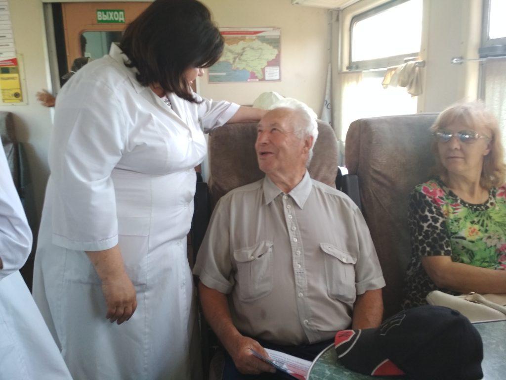 IMG 20180627 081107 1024x768 - В пригородном поезде на Карамыш прошла акция «Вперед к здоровью»