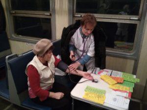 IMG 20181123 073434 300x225 - В пригородном поезде Сенная - Саратов прошла акция «Вагон к здоровью»