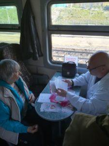 IMG 5a2260ac9996642aff6ad3516944734d V 225x300 - Для пассажиров проведена акция «Поезд ЗДОРОВЬЯ»