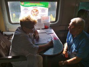 IMG 20190621 080645 300x225 - В пригородном поезде на Карамыш прошла акция «Вагон к Здоровью!»