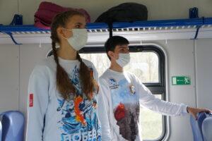dsc04123 300x200 - Более 1100 жителей Саратовской области посетили Волгоград на электропоезде во время майских праздников.